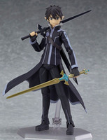 Wholesale Sword Child - New hot sale anime figure toy Figma 289 Sword Art Online ALO kirito 15CM gift for children