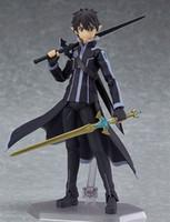 Wholesale Toy Anime Sword - New hot sale anime figure toy Figma 289 Sword Art Online ALO kirito 15CM gift for children