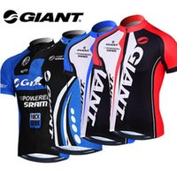 Wholesale Mtb Shorts Giant - VACOVE Summer Pro Team Giant Cycling jerseys Breathable Short sleeves Cycling Clothing MTB bike jerseys Ropa Ciclismo cycling shirt GT06WQ