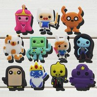 Wholesale Adventure Time Pvc - 55pcs Adventure Time PVC Shoe Charms Ornaments Buckles Fit for Shoes & Bracelets ,Charm Decoration,Shoe Accessories Party Gift Free Shipping