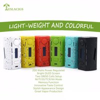 Wholesale Boxes For Cigarettes - Authentic Tesla WYE 200W Box Mod 8.4V 45A Vaporizer For 510 Thread Vape pen vapor Hookah Electronic Cigarette WYE Mod fit smok TFV12 PRINCE