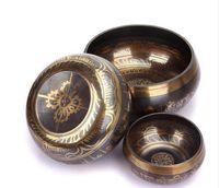 Wholesale Buddhist Bowl - Nepal Chung Bo bowl Buddhist yuba yoga practice Bowl turn through the bowl of copper chime household furnishings 8-17.5cm