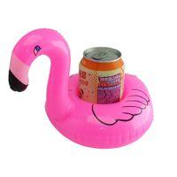 кольцевые буи надувные оптовых-Фламинго надувные жестяные банки буй Lifebuoy плавать кольцо плавать поплавок холодной чашки лоток весело творческий бассейн игрушки