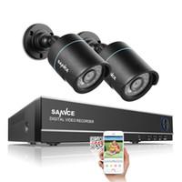 Wholesale Ip Ir Camera Dvr System - SANNCE HD 4CH CCTV System 1080P HDMI DVR 2PCS 720P 1280TVL CCTV IR Outdoor Video Surveillance Security Cameras 4ch DVR Kit IP CAMERA SECURIT