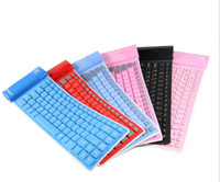 Wholesale Retail Mobile phone tablet ISO android universal wireless bluetooth keyboard waterproof foldable silica gel soft keyboard