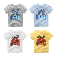Wholesale T Shirt Boy Dog Fashion - Baby Boys T-shirts Dog Pattern Fashion children Short Sleeve Kids T-shirt Boys Summer Cotton T-shirt children's Clothing