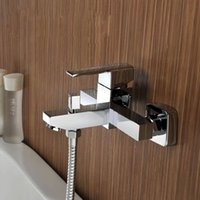 Wholesale Hotel Bathroom Shower Faucets Bathtub Faucet Mixer Tap With Water Spout Wall Mounted Brass Shower Faucet