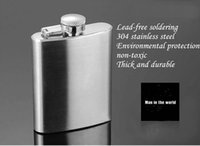 Wholesale Girl Sexy Bag Hip - Hot Selling Gift Groomsman Personalized(100pcs) Stainless Steel 1-18-oz Hip Flasks Wedding favors wedding suppliers DHL free in good price
