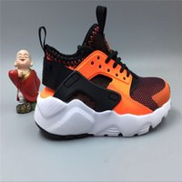 Wholesale Unisex Black Shoes Kids - New Kids Air Huarache Sneakers Shoes For Boys Grils Authentic All White Children's Trainers Huaraches Sport Running Shoes Size 28-35