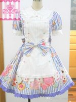 Wholesale Wonder Woman Custom - Customized 2016 Sweet cute Cotton Short Sleeve Lace Bow Wonder Cookie OP Lolita Dresses for ladies