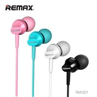 Wholesale Phone System Wiring - Original Remax RM-501 Noise Canceling Earphones In-Ear MP3 Music Earphone Portable Earphones With Microphone 3.5mm Audio Jack Android System