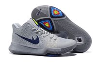 Wholesale Cool Shoes Free Shipping - Free Shipping 2017 Kyrie 3 Cool Grey Mens Basketball Shoes Kyrie 3s sneakers for sale size 7-12 Come With Box