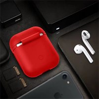 Custodia protettiva in silicone per il pattino d'aria Shock Proof Skin Cover True Wireless Tpu per la ricarica della cuffia per iphone apple Airpods Accessori