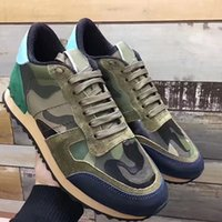 Wholesale Plastic Rocks - Fashion Style Women,Men Camouflage Rock Runner Sneakers Camo Rockstud Casual Shoes Rock Runner Studs Leisure Outdoor Trainer Size 36-46