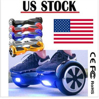 Wholesale Mini Scooter Toys - 6.5 inch Two Wheels Balance Scooters Hoverboard Smart Electric LED Scooter Skateboard Mini Self Balancing Wheel USA Stock Drop Shipping