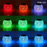 Wholesale Mosaic Glass Lamps - Solar Powered Mosaic Glass Ball LED Garden Lights,Color Changing Solar Table Lamps,Waterproof Solar Outdoor Lights for Christmas MYY
