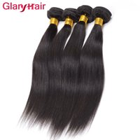 Wholesale tangle free hair weave for sale - Group buy Unprocessed Glary Raw Indian Straight Hair Weave Bundles Indtian Weave Weft Sraight Weave Bangs B No Tangle
