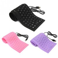 Design Laptop Notebook Tragbare Flexible Silikon Tastatur Faltbare Wasserdicht Staubdicht USB Silent Keys PC Tastatur