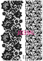 Wholesale Eye Tattoos Stickers Lace - Wholesale- New Lace Black Henna Tattoo Sticker Totem Butterfly Sun 36 Designs Brand Temporary Tattoo Body Art for Women Tatuagem