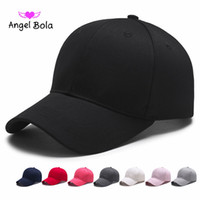 Wholesale angels baseball caps - Angel Bola Men Baseball Cap Women Snapback Caps Casquette Hats For Men Plain Blank Solid Gorras Planas Baseball Caps Plain Solid