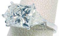 Wholesale Gold Ring Certificate - Platinum Ring 5.04 Square Brilliant Diamond GIA Certificate Size 8