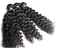 Wholesale Remy Weave Hair Retail - Afro Kinky Curly Human Hair Weave Brazilian Malaysian Indian Peruvian Cheap Remy Virgin Hair Extensions 3pcS 100g bundle Wholesale retail