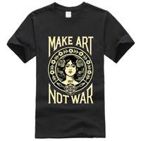 Wholesale Women Washed Cotton Shirt - Fashion T Shirt Men 2017 Obey Propaganda New Black O-neck Women Tops Male Shirts Short Sleeve Brand Clothing Size XS-3XL