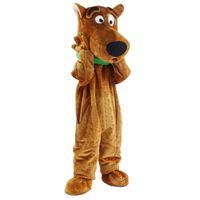 tamanho do adulto do traje da mascote do cão venda por atacado-New Scooby Doo Dog Mascot Costume Adulto Tamanho Fantasia Vestido de Natal frete grátis