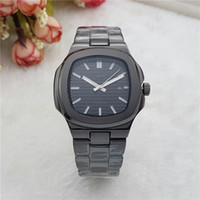 Wholesale Red Mail - 2017 AA relogio mens watches Luxury dress designer fashion Black Dial Calendar gold Bracelet Folding Clasp Master gifts couples Package mail