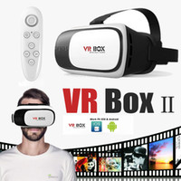 Wholesale Glass 3d - VR BOX 2.0 II Version 3D Glasses VR Headset Virtual Reality Google Cardboard +Smart Bluetooth Wireless Mouse Remote Control Gamepad