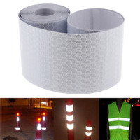 Wholesale Reflective Safety Tape - 5cmx3m Safety Mark Reflective Tape Stickers Car Styling Self Adhesive Warning Tape Automobiles Motorcycle Reflective Film CEA_30E