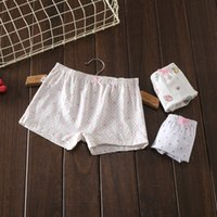 Wholesale Boxer Love - Girls cotton boxers cute floral stars loving heart printing underwears with ribbon bowknot for girls 3-9T