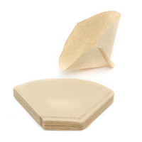 Wholesale Hand Poured - Useful 40pcs lot Hand-poured No.101 Coffee Paper Filter Hand Drip Folded for Filter Bowl Drip Coffee Machine Kitchen Cafe Tool