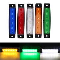 ingrosso magnetico luce lampeggiante blu-4 pz 12 V 24 V 6 LED Car Truck Trailer Posteriore Coda Stop Luce Indicatore Luce Indicatore Lampada Led Lampadina