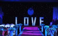 cortina preta luzes led venda por atacado-3 mx6 m LEVOU Cortina Da Festa de Casamento LEVOU Pano Estrela Pano de Fundo Preto LED Estrela Pano Cortina de Luz Decoração Do Casamento LLFA