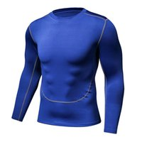 Wholesale Tights Long Sleeve Tees - New Arrival 5 colors Men Sports Slim Quick-drying breathable elastic tights Long Sleeve T-shirts Casual tees Sportwear training tops