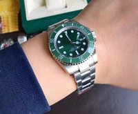 Wholesale Mens Automatic Water Resistant Watches - Best New Noob Factory V7 Edition Automatic Eta 2836 Mens Watch Green Ceramic Bezel Dial Date Watches Men 116610 Dive Sport 40mm Wristwatches