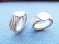 Wholesale bronze cabochon ring settings - Silver tone Antique Bronze Smooth Stretchable Flexible Ring Charm Finding,Base Setting Tray,fit 12mm Cameo Cabochon,DIY Accessory Jewellry