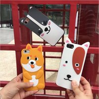 Wholesale Iphone Puppy - Cute 3D Puppy Dog Animals Slim Silicone Protective Soft Case Skin for Apple iPhone 6 6s plus 7 7 plus free post