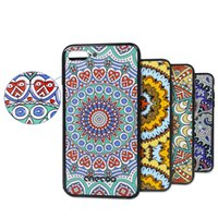 Wholesale 3d Printed Phone Case - For Samsung Galaxy S8 Phone Case 3D Printing Ultra Thin National Case For Iphone 7 6s 6 plus Samsung S8 plus With RetailPackaging