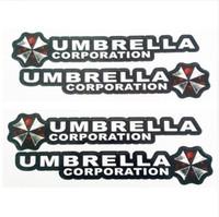 adesivo guarda-chuva venda por atacado-4 Pçs / lote Resident Evil Umbrella Corporação Logotipo Cola Adesivo de Carro Decalque Cobre À Prova D 'Água para Todos Os carros no Carro Lidar Com Botão