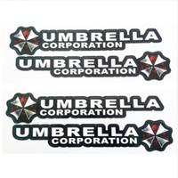 resident evil umbrella logo großhandel-4 Teile / los Resident Evil Umbrella Corporation Logo Kleber Aufkleber Auto Aufkleber Abdeckungen Wasserdicht für Alle autos auf Auto Griffknauf