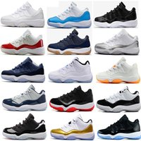 Wholesale Gold Lace Fabrics - 2017 air retro 11 Basketball Shoes men women Low navy Gum Blue Metallic Gold Barons university blue concord Varsity Red Space Jam Sneakers