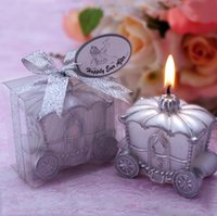 Wholesale Wholesale Favor Candles Weddings - Home Wedding Decoration Candle Favor Elegant Pumpkin Carriage Candle Romantic Wedding Favor Candles Guest Gift