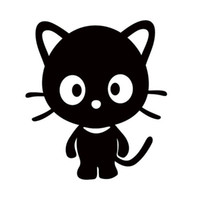 Wholesale Big Car Window Decals - Wholesale Cute Cat Silhouette Car Sticker for Truck Window Kayak Motorcycles Door Pet Cartoon Funny Vinyl Decals Big Eyes Valentine Girl