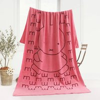 Wholesale large pink beach towels resale online - Cartoon Soft Microfiber Fast Drying large bath towels towel for Beach Swimwear Gym Camping Bath toalha de banho cm