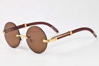 Wholesale blue prescription glasses - 2017 fashion styles new sports sunglasses for men brand designer outdoor prescription glasses rimless round lens sunglasses with box case