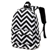 Designer Striped Zipper Canvas Backpack Teen Girls Sacs scolaires Large Voyage Laptop Femme Sacs à dos Mochilas Femmes