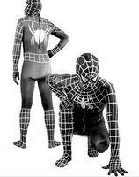 Wholesale Spiderman Mascot Costumes - Black Spiderman Mascot Costume Fancy Party Dress Suit Free Shipping