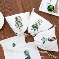 Wholesale Wall Cloth Pocket - Mini Bundle Pocket Cosmetics Jewellery Storage Articles Cacti Pulling Rope Bag Portable Cloth Bale Daily Supplies Many Styles 2ff C R